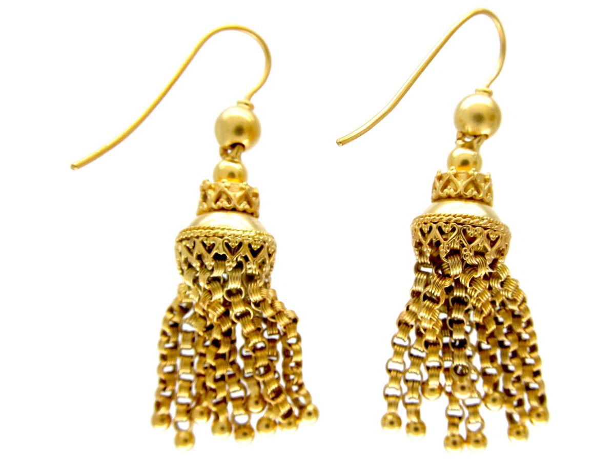 Victorian 18ct Gold Tassel Earrings