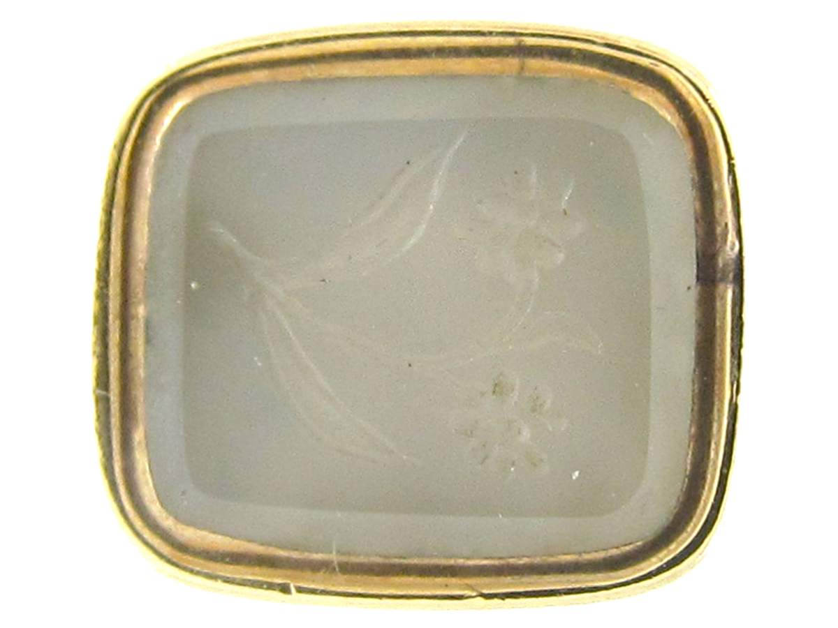 Regency Gold Cased Seal with Chalcedony Base