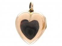 Pearl & Garnet Heart Locket