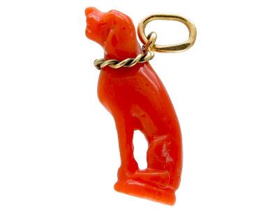 Georgian Coral Dog Amulet