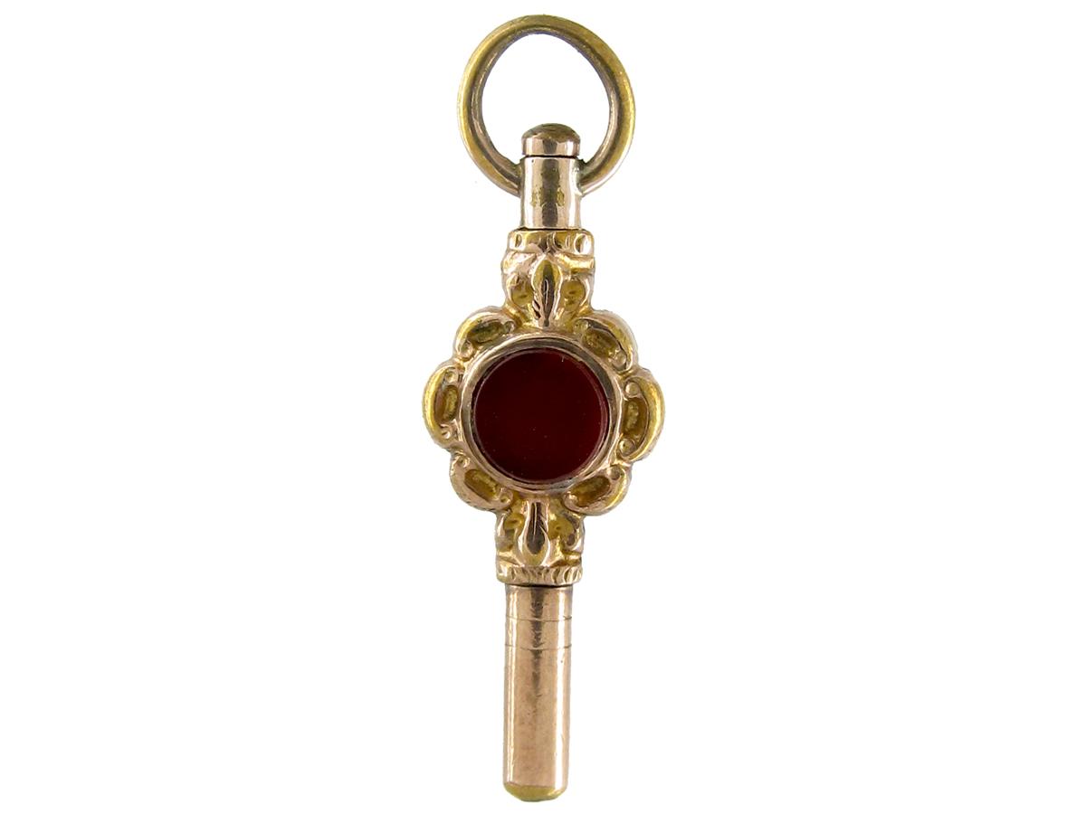 Victorian Gold Cased Bloodstone & Cornelian Watch Key