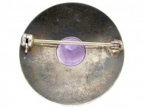 Silver & Amethyst Target Brooch