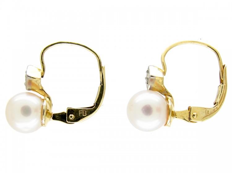 Pearl & Diamond Earrings