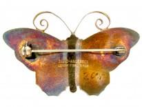 Silver & Enamel Butterfly Brooch by David Andersen