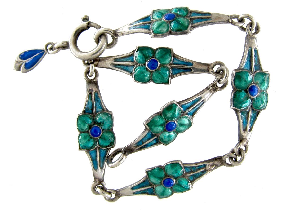 Silver & Enamel Bracelet by James Fenton
