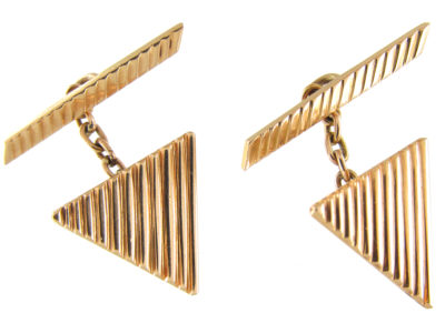 18ct Gold Triangular Cufflinks