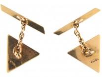 18ct Gold Triangular Cufflinks