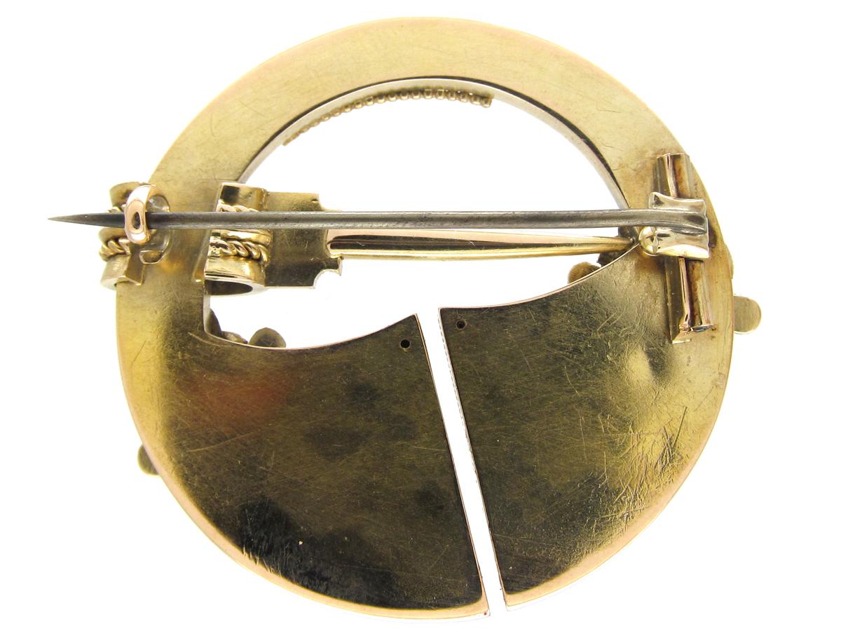 Victorian Celtic 18ct Gold Brooch