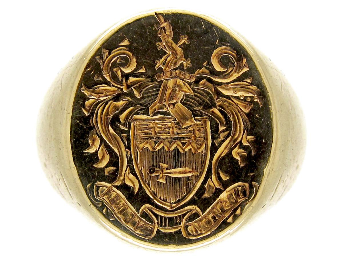 9ct Gold Intaglio Ring