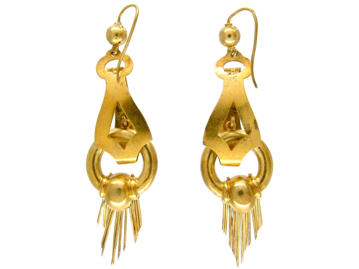 Victorian 15ct Gold Tassle Drop Earrings