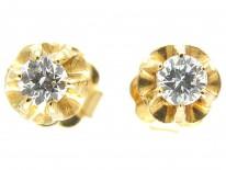 Single Stone Diamond Earrings
