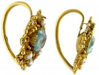 Georgian Emerald & Natural Split Pearl Earrings