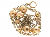 9ct Gold & Natural Pearl Shell Necklace