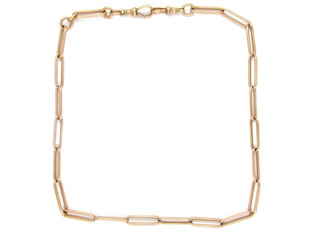 9ct Gold Long Link Albert Chain