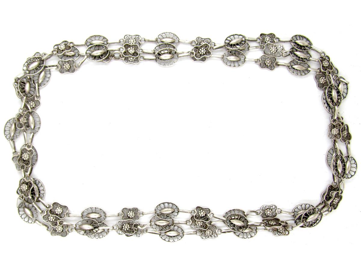 Victorian Silver Guard Chain