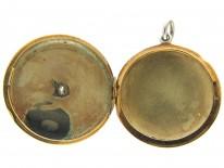 Diamond & Black Enamel 18ct Gold Art Deco Locket