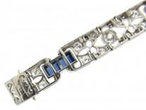 Sapphire & Diamond Art Deco Bracelet