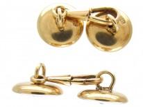 Mother of Pearl & Diamond 14ct Gold Cufflinks
