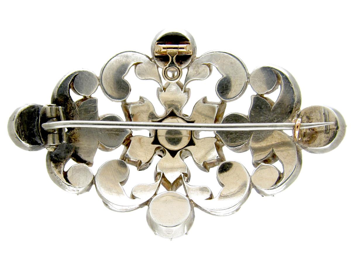 Victorian Silver & Paste Brooch