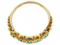 Georgian Emerald & 18ct Gold Five Stone Ring