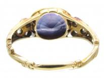 Sapphire & Rose Diamond Georgian Ring