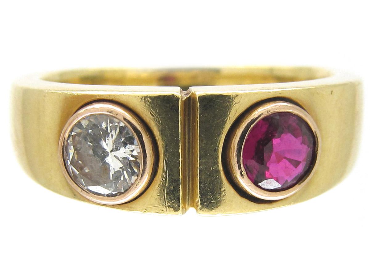 Ruby & Diamond 18ct Gold Ring
