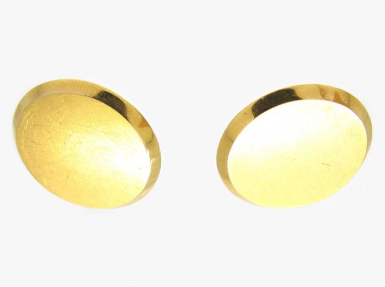 15ct Gold Disc Earrings