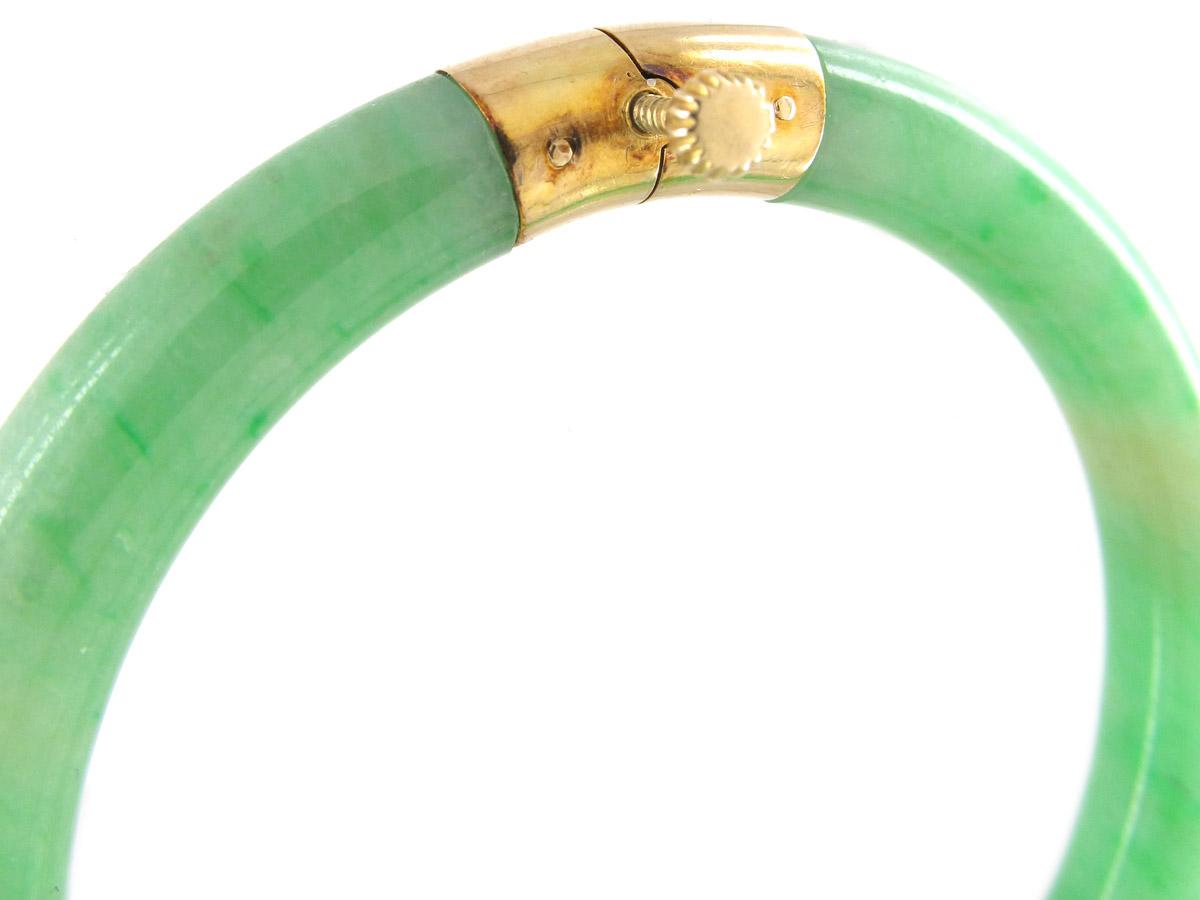 Jade & 18ct Gold Bangle