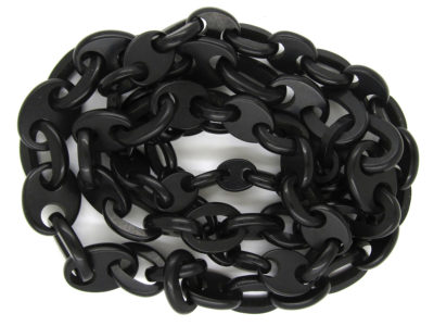 Victorian Vulcanite Long Guard Chain