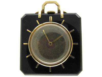 Onyx & Gold Watch Pendant