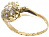 Victorian 18ct Gold & Diamond Cluster Ring
