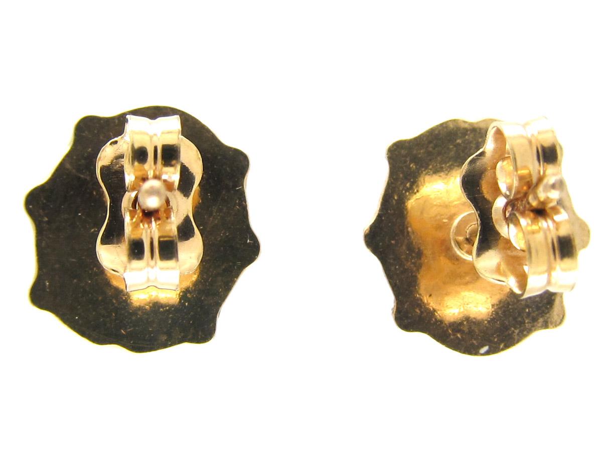 Gold & Enamel Ladybird Earrings
