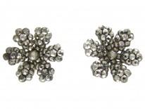 Georgian Cut Steel Flower Earrings
