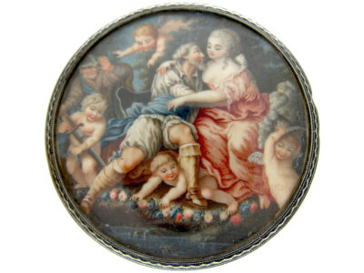 Silver Victorian Painted Miniature