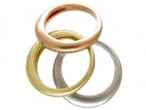 Three Three Colour Gold & Diamond Set Rings