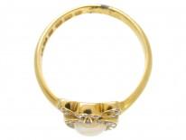 Victorian Heart Shaped Opal & Diamond Ring