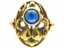 Art Nouveau 18ct Gold & Sapphire Ring