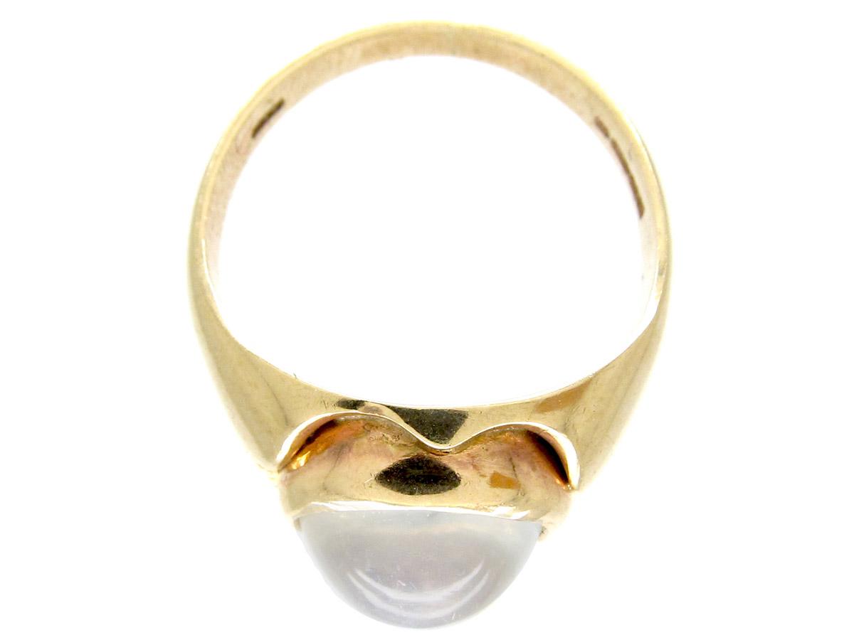 Edwardian Moonstone Gold Ring