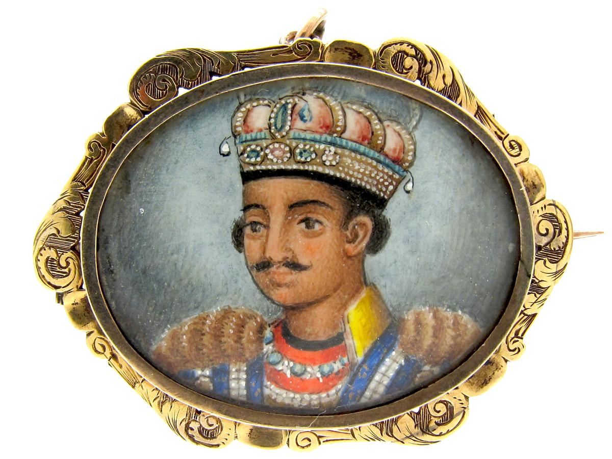 15ct Gold Nawab of Lucknau Portrait Brooch