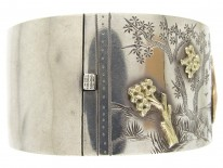 Victorian Silver & Gold Bangle