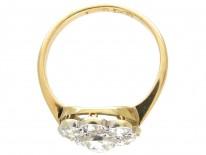Edwardian Daisy Diamond Cluster Ring