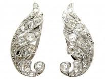 Art Deco Diamond Angel Wing Earrings