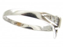 Diamond & Platinum Edwardian Buckle Ring