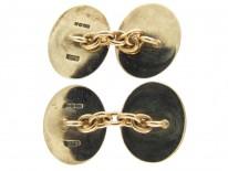 9ct Gold & Enamel Fishing Cufflinks