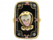 Early 19th Century Swiss Enamel Miniature Ring