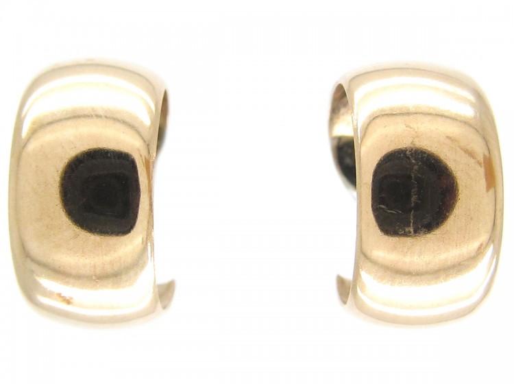 9ct Gold Half Hoop Earrings