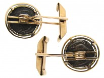 14ct Gold & Ancient Silver Coins of Lions Cufflinks