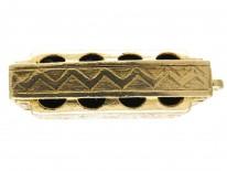 Gold Harmonica Pendant