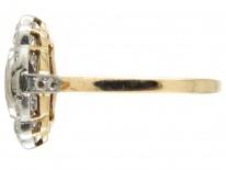 Art Deco Ruby & Diamond Cluster Ring