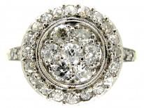 Art Deco Diamond Cluster Ring